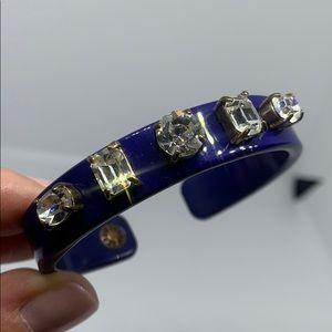 J. Crew rhinestone blue cuff bracelet